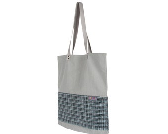 Bag gray & blue tote bag to accompany you in all situations!