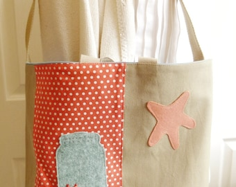 Beach Theme Tote Bag