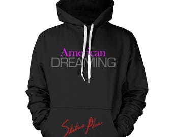 NEW American Dreaming Pink Hoodie 100% Cotton Premium Soft Heavyweight Fabric