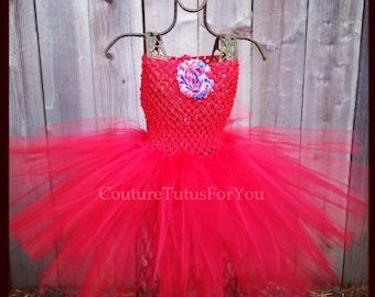 Red Hot Love Tutu Skirt, red skirt, red tulle skirt, red tutu, tutus for children, tutu, newborn tutu, birthday tutu