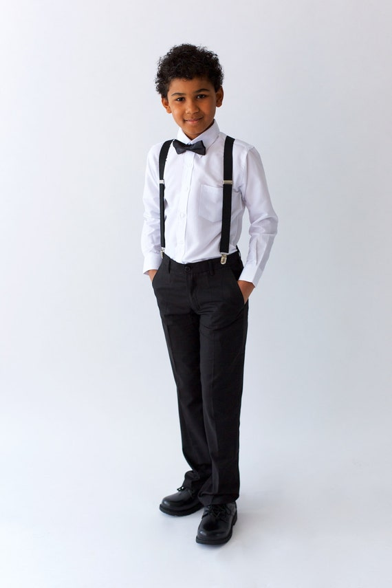 Boys Black Suit Pants page boy out wedding boy suit ringer