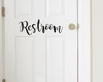 Restroom Vinyl Decal, Mens, Womens Bathroom Decal