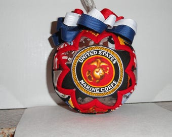 Marines Quilted Christmas Ornament