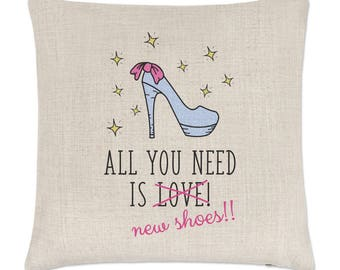 All You Need Is Love New Shoes Linen Cushion Cover