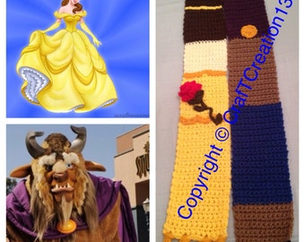 Beauty and the Beast inspired Scarf