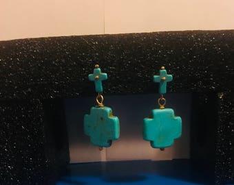 Handmade Women's Cross Earring
