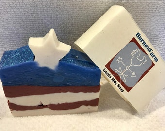 Flag Homemade Goat Milk Soap