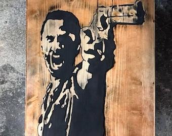 Walking Dead Rick Grimes Wood Art