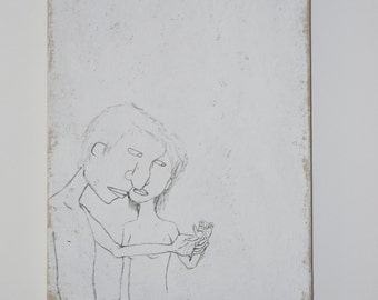 Drawing on Canvas, 'Do You Love Her?, 2008 '