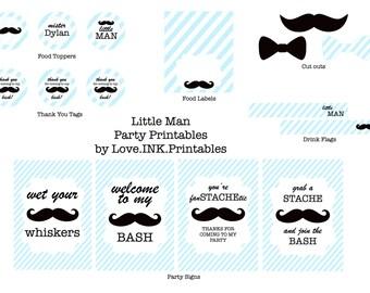 Little Man Party Printable Decorations