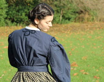 Civil War 1860s Dress (Victorian, Camp, reenactment, dress)