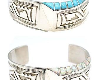Turquoise & Opal Overlay Bracelet