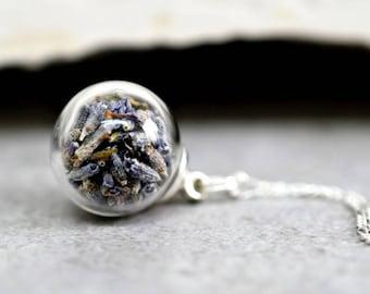 925er Silver True Lavender Blossoms Necklaces