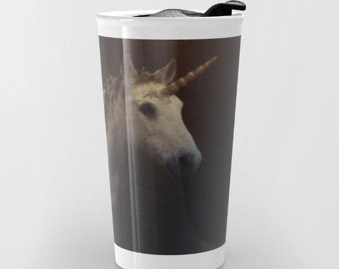 Unicorn Travel Mug - Fantasy Unicorn Photo Art - Coffee Travel Mug - Hot or Cold Travel Mug - 12oz Travel Mug -Made to Order