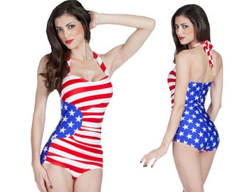 Gloria Swimsuit in Stars and Stripes