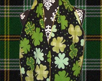 St. Patrick's Day Fleece Scarf, Holiday Muffler, Bufanda, Neck Scarf, Shamrock Party