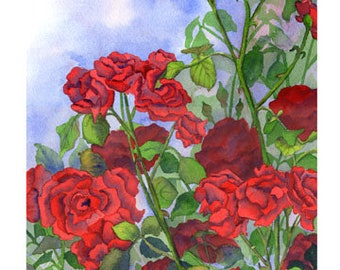 """5x7 Floral Greeting Card """"June Passion"""""""