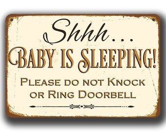 Shhh BABY IS SLEEPING Sign, Baby Is Sleeping Signs, Baby is Sleeping, Please Do Not Knock or Ring Doorbell, Baby is Sleeping, Do not Disturb