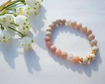 Tulasi and moonstone, Spring bracelet