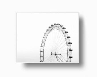 Ferris Wheel Print, Architectural Print, Ferris Wheel Poster, Carnival Print, Ferris Wheel, Ferris Wheel Wall Art, Minimalist print Set