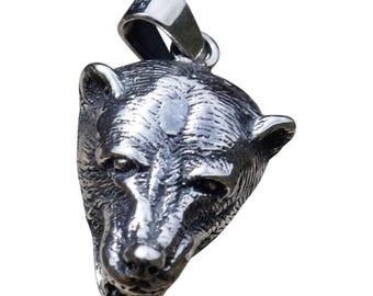 Wolf Silver Pendant - Silver Jewelry - Peruvian Handmade Pendant - Gift for Him - Wolf Jewelry - Peruvian Jewelry - Peruvian Pendant