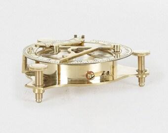 Gold Brass Sundial