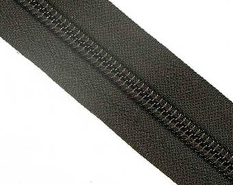 YKK #5 Zipper Tape  Black sold in 50cm increments long pulls sold separately