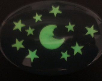Glow in the Dark Soap, Celestial Moon and Stars