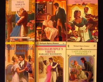 Parcel 19 - Lot of 6 Regency Romance Books Dunn MacKeever Ferguson Westhaven Witton Lawrence