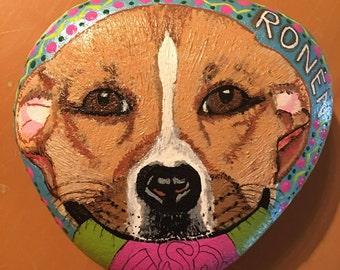 """Custom painted Rock Pet, """"Ronen"""""""