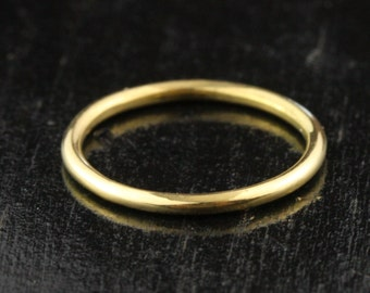 1.65mm 14k / 18k / 22k / 24k Gold Full Round Stacking Band Ring - 1.65mm