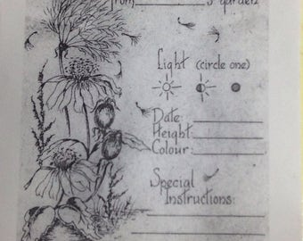 Garden Seed Saving/Sharing Envelope