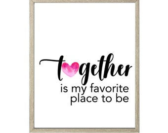 Love Printable - Together