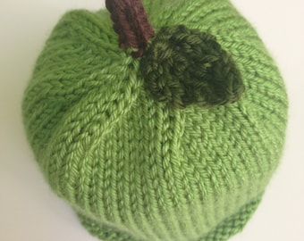 Green Apple Baby Hat (Size: 3-6 months)