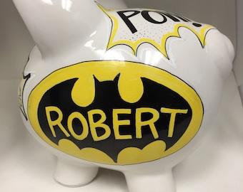 Personalized Piggy Bank Batman