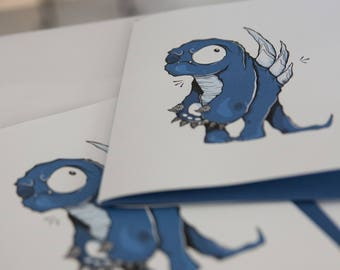 GREETING card - Monster 4