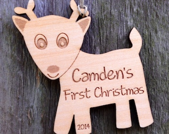 Delightful Deer Personalized Ornament: Personalized Baby's First Christmas Ornament/1st Christmas Gift/Woodland Ornament/Deer Ornament
