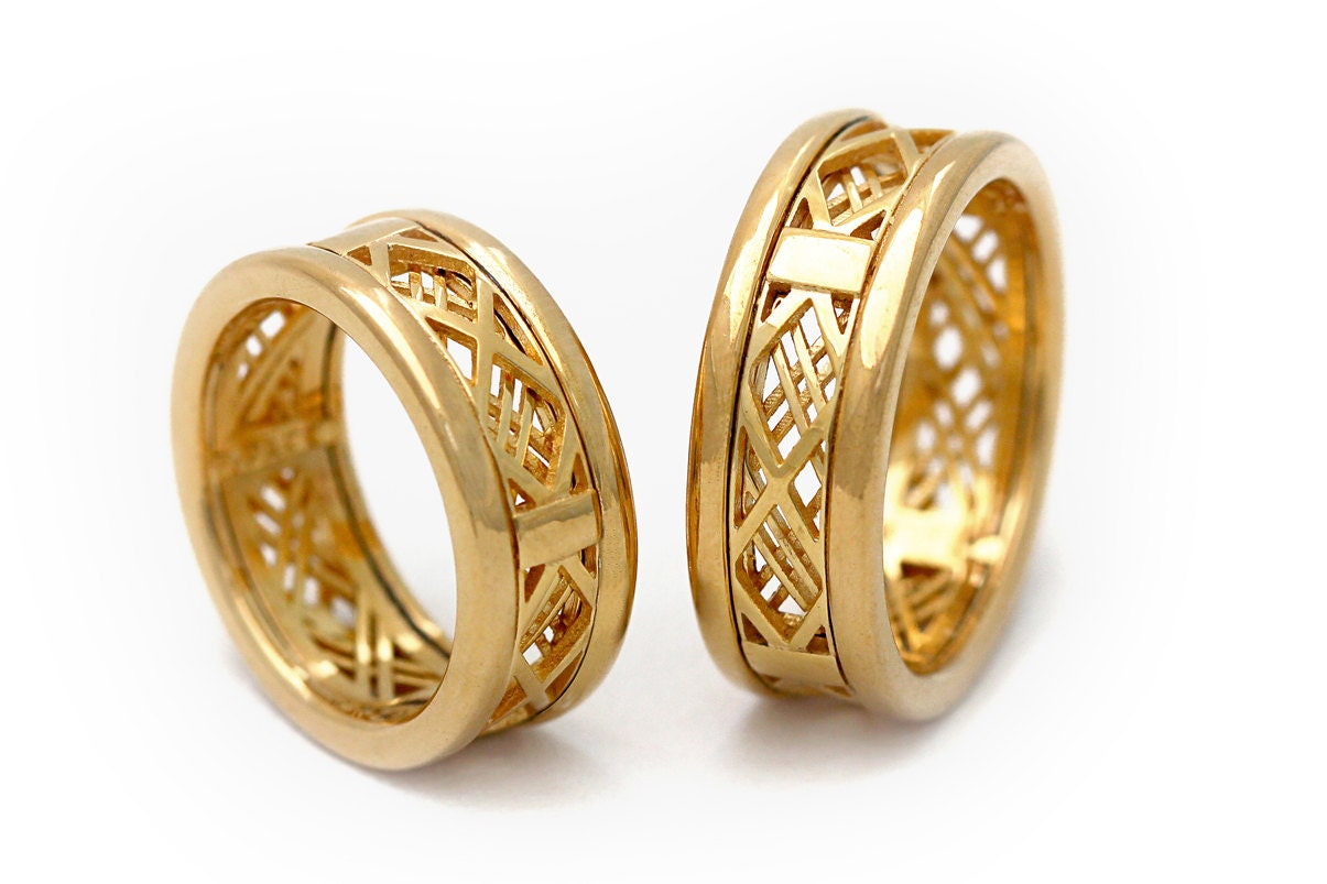 tone band product two brushed gold mens wedding ring rakuten shop bands