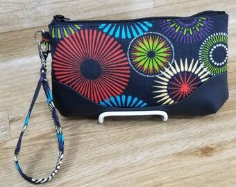 Laura -Z Clutch Large size Made in  out door  Fabric