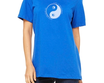 Women's Ocean Wave T-Shirt  / Fitted Cap-Sleeve / Life is Balance® / Inspirational T-shirt / Gift for Women
