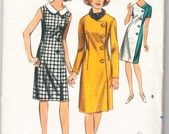 Vintage 1965 Butterick 3740 UNCUT Sewing Pattern Misses' One-Piece Dress Size 12 Bust 32