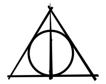 Deathly Hallows Vinyl Decal - Harry Potter car, laptop sticker