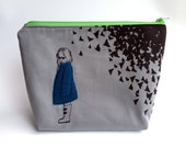 "8""x10"" Zipper Pouch *Moth Girl*"