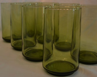 Vintage Green Glass Tumbler