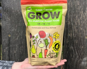 All Purpose Plant Food / Clean Water Grow / Natural , Sustainable, Environmentally Friendly