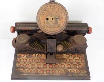 Vintage Marx De-Luxe Dial Tin Lithograph Toy Typewriter