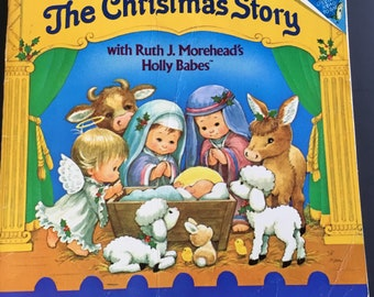 Vintage, Ruth J. Moreheads babes, Christmas Storybook, 1986