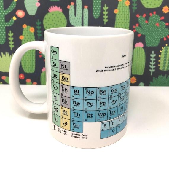 yorkshire periodic table chemistry funny chunky mug