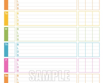 Blood Sugar Tracker -  Printable for Health, Medical, Fitness, Blood Glucose Log - INSTANT DOWNLOAD