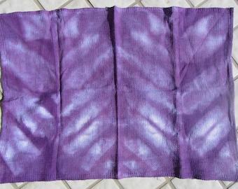 Shibori Tie Dye Cotton Waffle Weave Dish Towel Yellow Red Green Purple